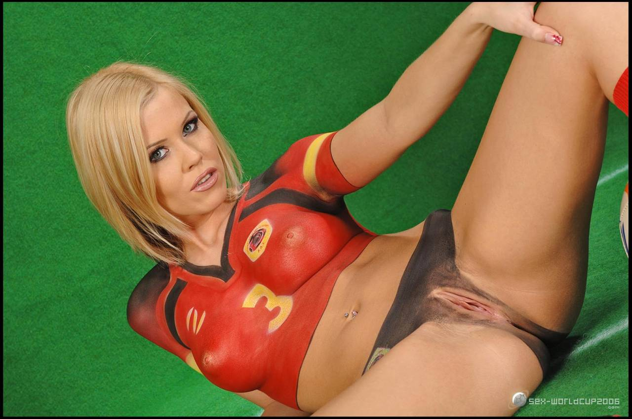 Painted football girls nude opinion